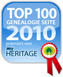Auszeichnung Top Genealogie-Seite