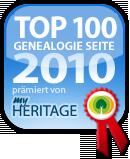 Auszeichnung Top Genealogie-Seite