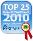 Присуждение звания наилучших генеалогических веб-сайтов